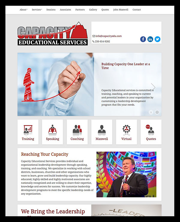 Capacity Educational Services Website Design.