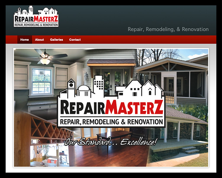 Repair Masterz Repair, Remodeling, and Renovation Website.