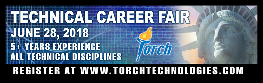 Torch Technologies Career Fair Digital Billboard Design.