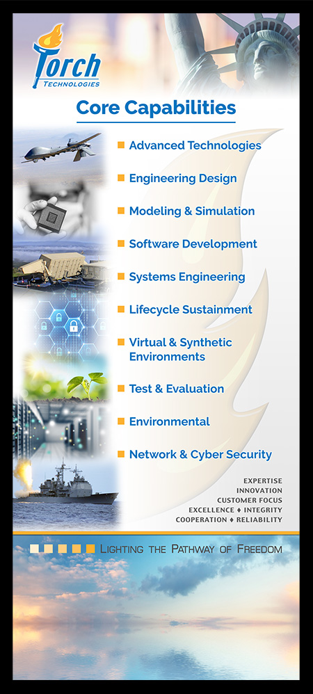Torch Technologies Core Capabilities Banner Design.