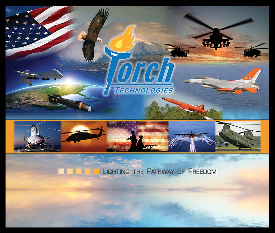 Torch Technologies 2018 Space and Missile Defense Conference Army Aviation Banner Design.