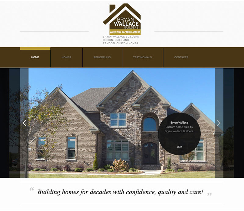 Bryan Wallace Builders Website Design by Empty Tomb Graphics.