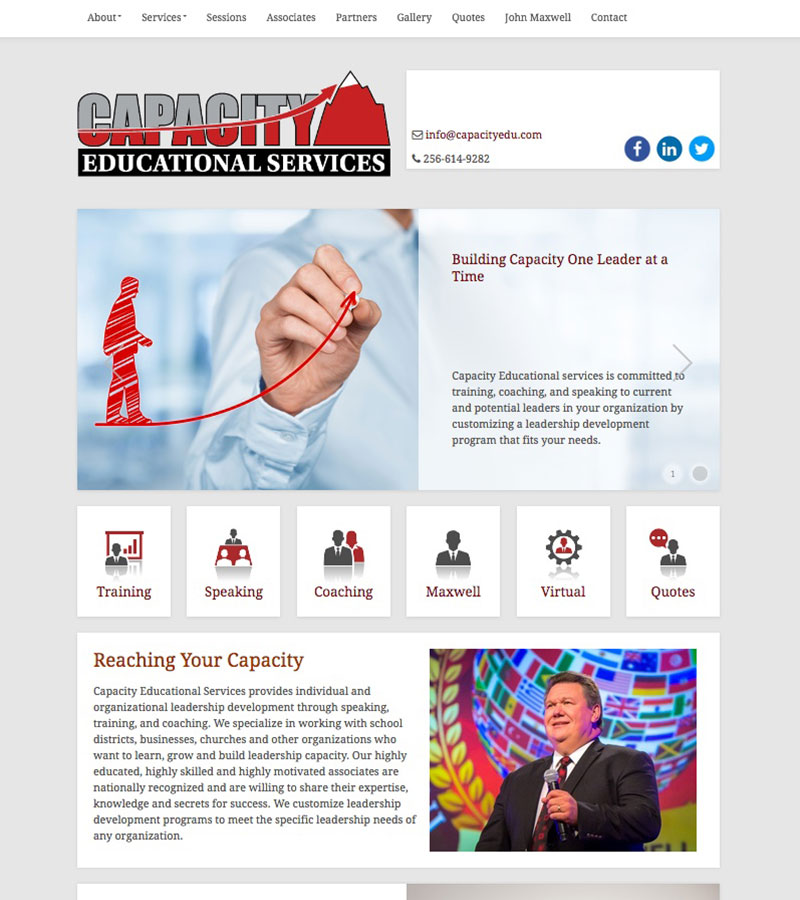Capacity Educational Services Website Design by Empty Tomb Graphics.