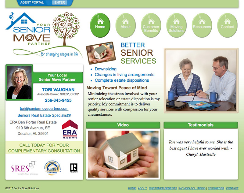 Senior Move Partners Website Design by Empty Tomb Graphics.